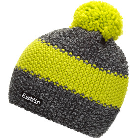 Eisbär Styler Pompon Hat Men anthracite/black mele/lime
